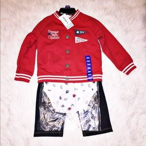 NWT 24 month Carters 3 piece outfit Football